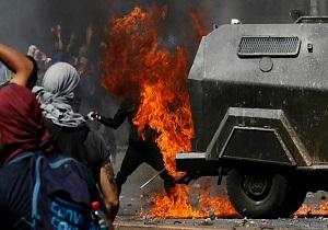 شیلی همچنان ناآرام است/ یک رستوران به آتش کشیده شد و یک هتل نیز غارت شد