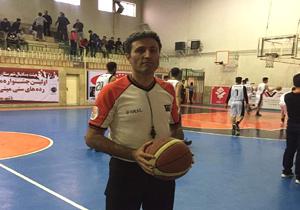 باشگاه خبرنگاران -قضاوت داور مهابادی در مسابقات کشوری بسکتبال