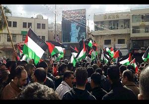 تجمع در نابلس در محکومیت تجاوز رژیم صهیونیستی به غزه
