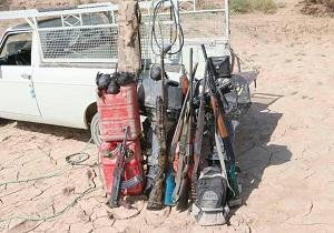دستگیری ۵شکارچی متخلف در زهک