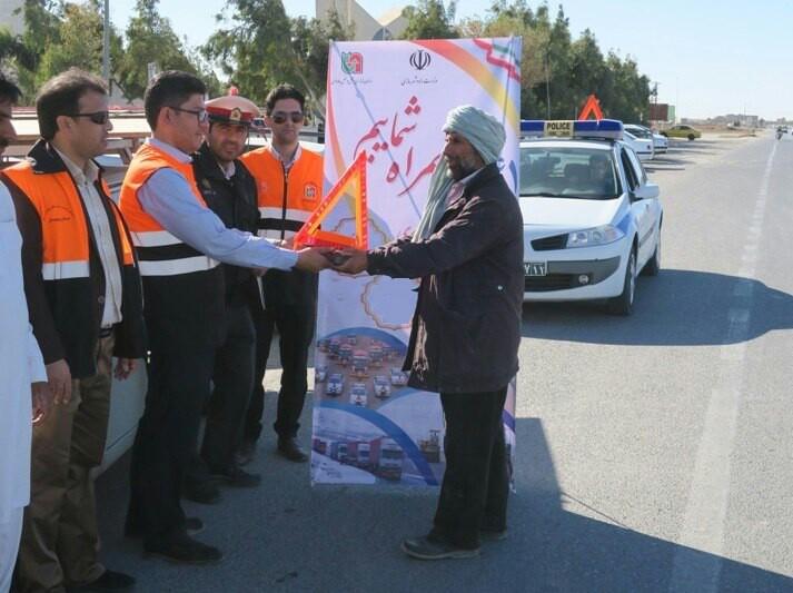 برگزاری مانور روز بدون حادثه رانندگی در محورهای مواصلاتی سیستان و بلوچستان