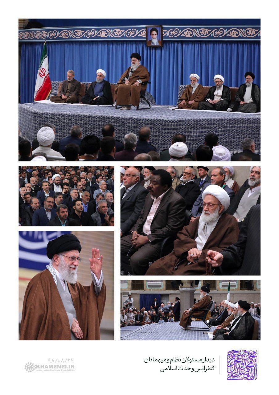 حضور آیت الله شیخ عیسی قاسم در دیدار امروز با رهبر انقلاب +تصاویر