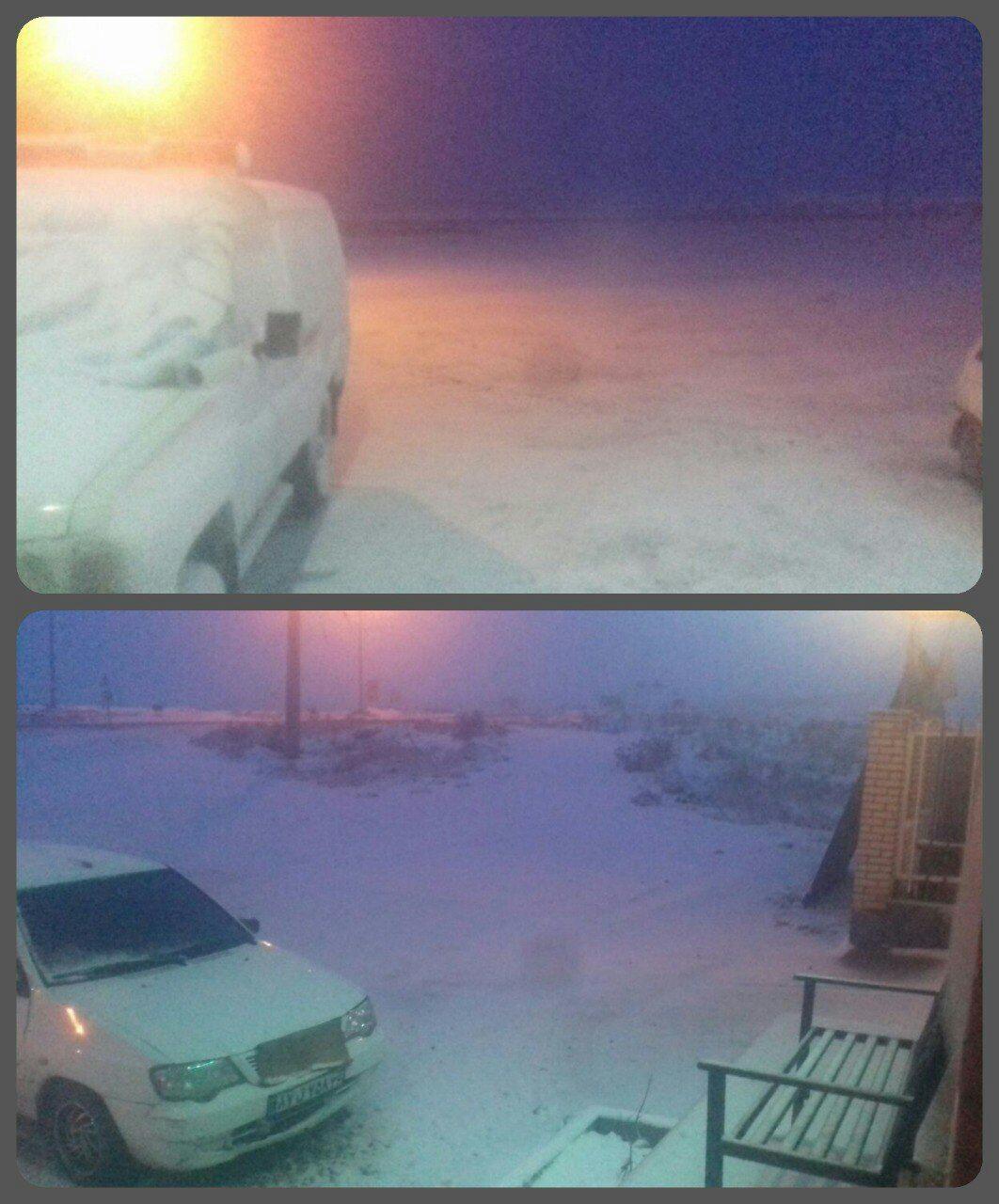 بارش برف پاییزی برخی از مناطق کشور را سفید پوش کرد