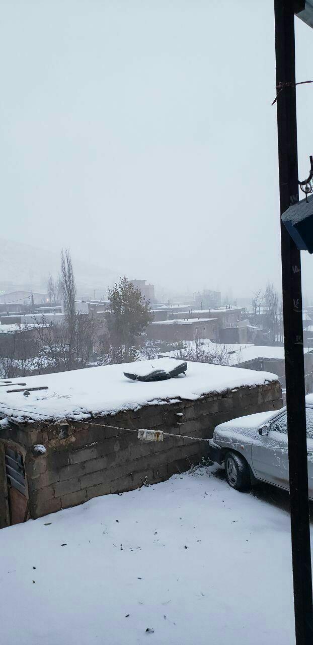بارش برف پاییزی برخی از مناطق کشور را سفید پوش کرد + تصاویر