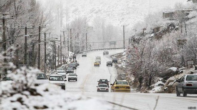 بارش برف استان های کشور را سفید پوش کرد