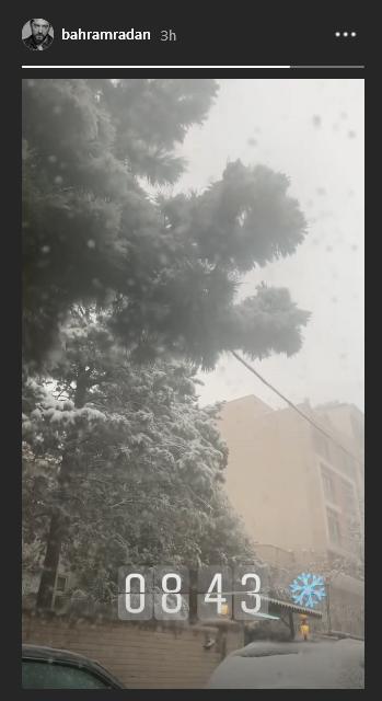 تایملپس رویا نونهالی از اولین برف پاییزی پایتخت /