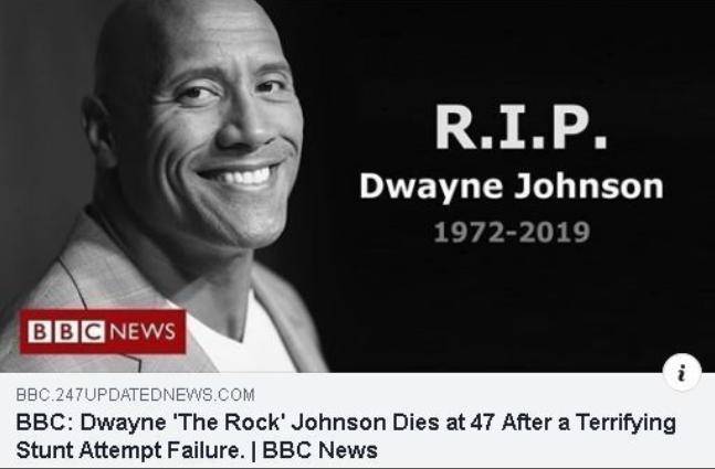 انتشار خبر مرگ «دوین جانسون» در شبکههای اجتماعی+تصویر