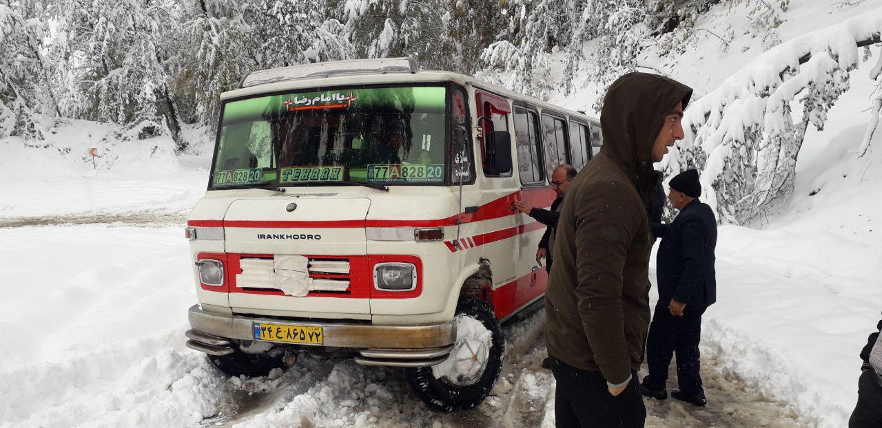 برف پاییزی برخی از استان های کشور را سفید پوش کرد + فیلم و تصاویر