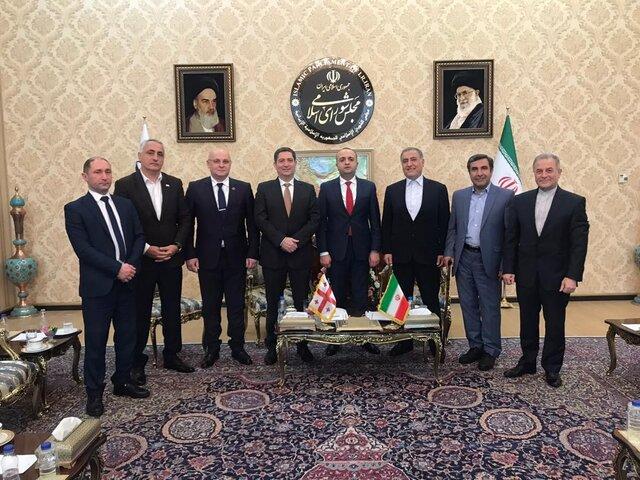 سفر گروه دوستی پارلمانی گرجستان و ایران به تهران