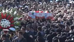 مراسم باشکوه تشییع پیکر شهید راه امنیت در کرمانشاه + فیلم