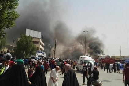 ۲ انفجار در الاسکان و الغداء در استان ذی قار عراق