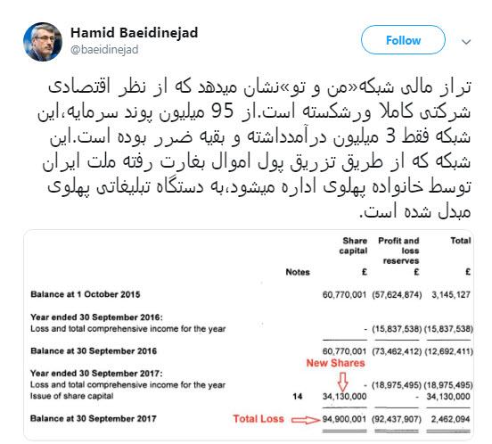 افشاگری بعیدی نژاد از پشتپرده مالی شبکه من و تو