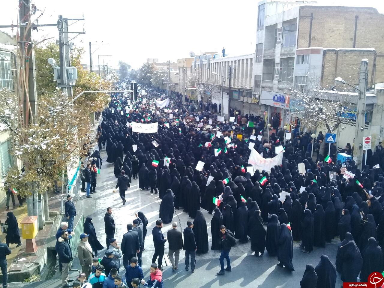 خروش انقلابی مردم استان مرکزی علیه آشوبگران