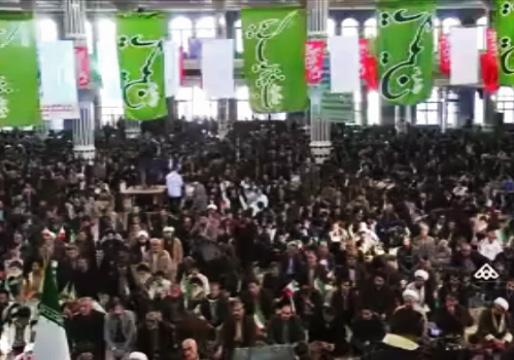 آوار راهپیمایی باشکوه مردم بر سر حامیان اغتشاشگران + فیلم
