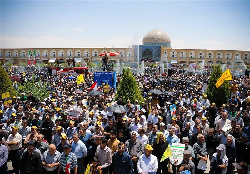 راهپیمایی عظیم مردم اصفهان در محکومیت آشوبگران