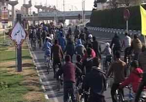 همایش دوچرخه سواری در قم برگزار شد