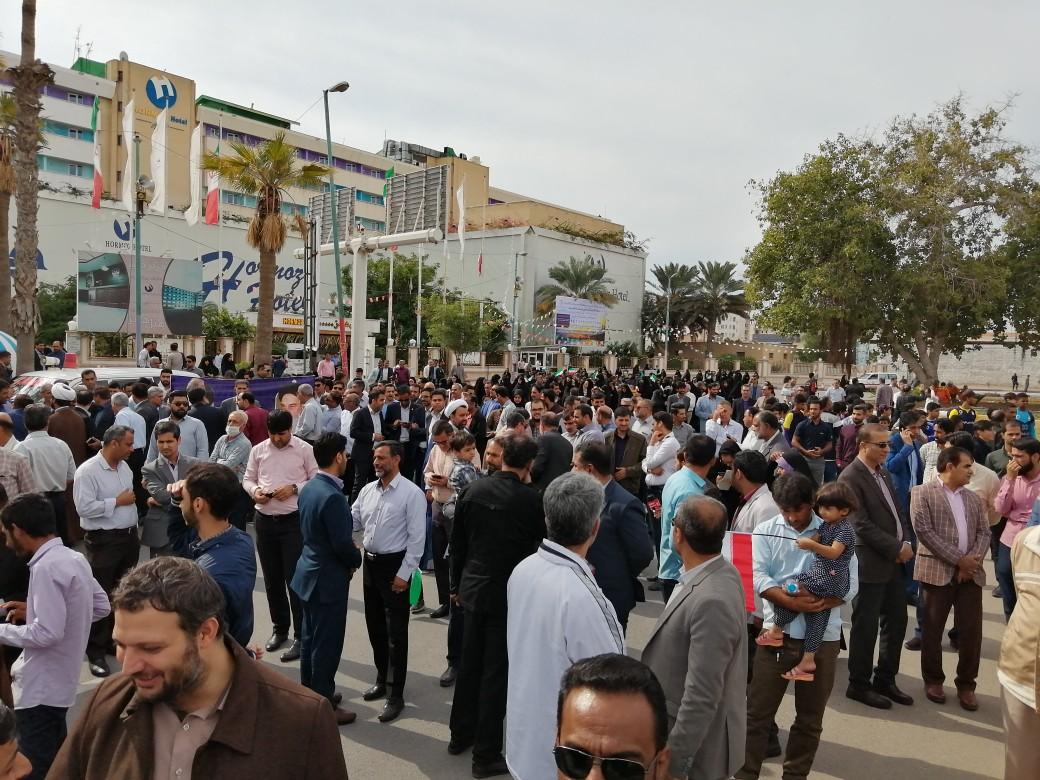آغاز راهپیمایی دفاع از امنیت و حافظان امنیت کشور در بندرعباس و بندرلنگه + تصاویر