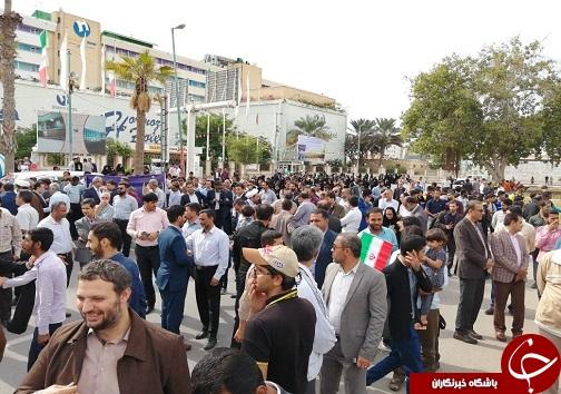 راهپیمایی دفاع از امنیت کشور در بندرعباس + عکس