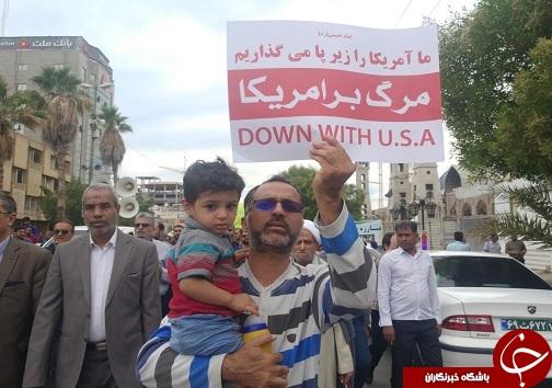 راهپیمایی دفاع از امنیت کشور در بندرعباس + تصاویر