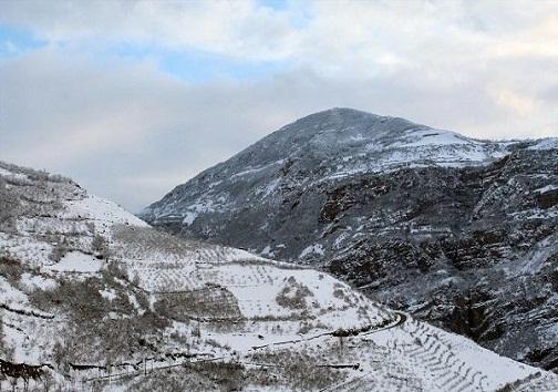 بارش نخستین برف پاییزی در ارتفاعات دنا