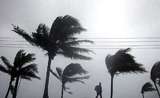 توفان تندری شدید در آبادان