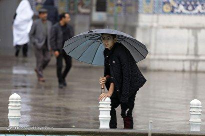 باران پاییزی در قم