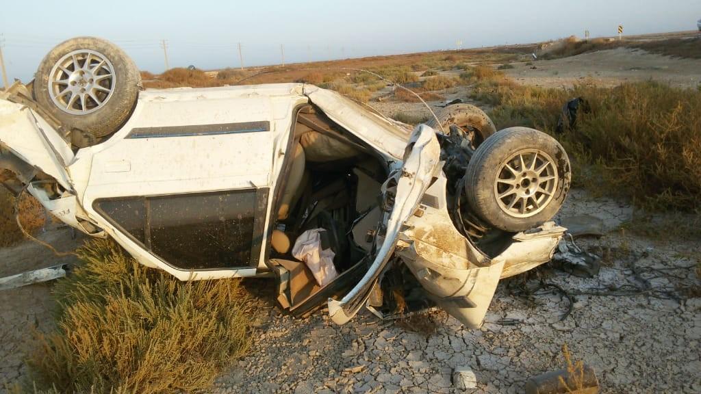تصادف در جاده بوشهر-گناوه دو کشته و چهار زخمی داشت
