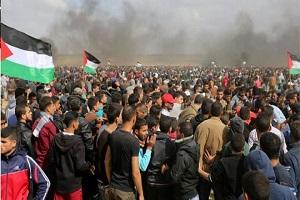 فلسطینیها جاده را به روی صهیونیستها بستند