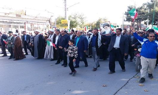 راهپیمایی مردم انقلابی نهاوند در محکومیت آشویگران + تصاویر
