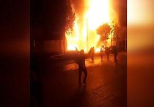 فیلمی دیده نشده از نجات چندین شهروند در آتشسوزی اغتشاشات اخیر