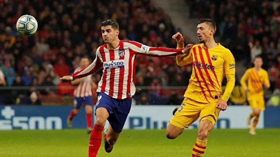 اتلتیکو مادرید صفر - بارسلونا ۱ / بازپس گیری صدر جدول از رئالیها در مادرید / شاگردان سیمئونه هرچه زدند گل نشد