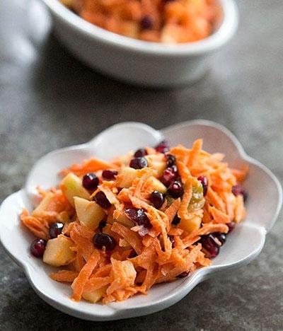 طرز تهیه دو نوع سالاد هویج//ثباتی