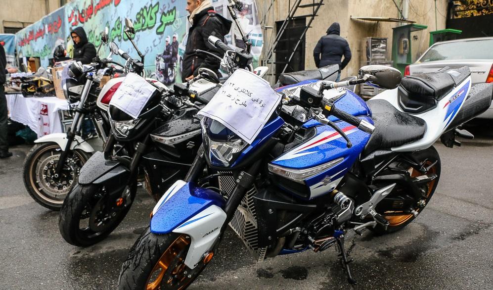 توقیف موتورهای ۱۰ میلیارد ریالی در تهران
