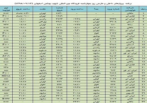 فراز و فرود ۳۲ پرواز داخلی و خارجی در فرودگاه بین المللی اصفهان