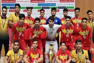صعود تیم آذرخش بندرعباس به لیگ دسته اول فوتسال امیدهای کشور
