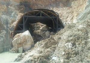 ورودی تونل زره کیار ریزش کرد/ این حادثه خسارت جانی و مالی نداشت