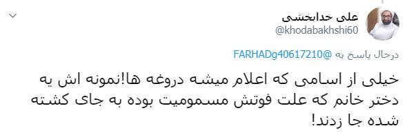 واکنشها به دروغپردازی ضدانقلاب در خصوص کشتهشدن نیکتا اسفندانی در اغتشاشات اخیر