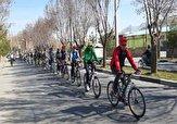 باشگاه خبرنگاران -دوچرخه سواران مهابادی در همایش ترکیبی دوچرخه سواری و نهالکاری پا به رکاب شدند