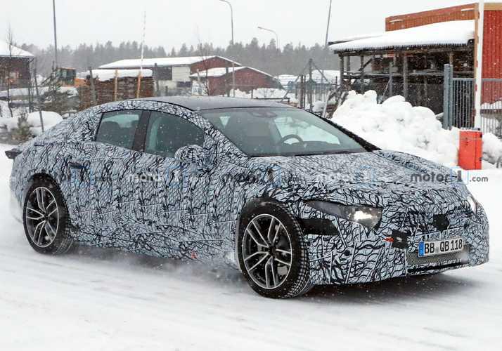 تصاویر جاسوسی خودروی Mercedes EQS فاش شد + تصاویر