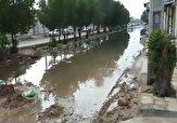 باشگاه خبرنگاران -از بوی تعفن فاضلاب تا گِل و لای در خیابان اهواز + فیلم