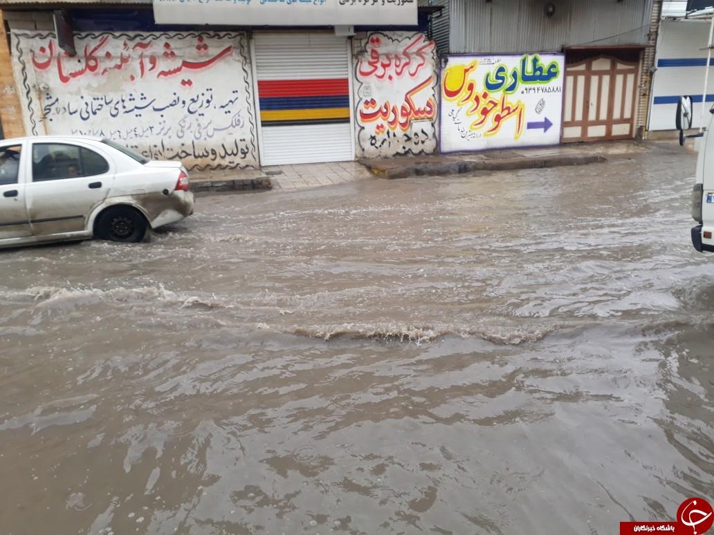 بازهم خیابانهای اهواز در فاضلاب غرق شدند/ مسئولان چه زمانی بیدار میشوند؟