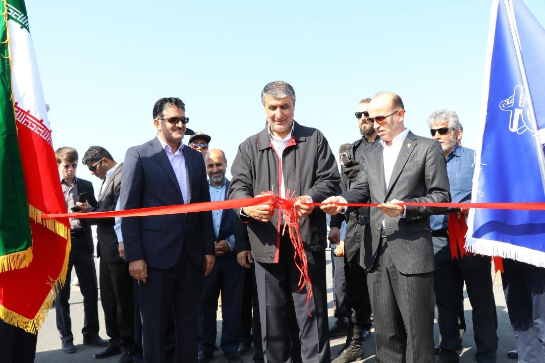 افتتاح ۲.۵ کیلومتر جاده دسترسی بندر شهید بهشتی با حضور وزیر راه
