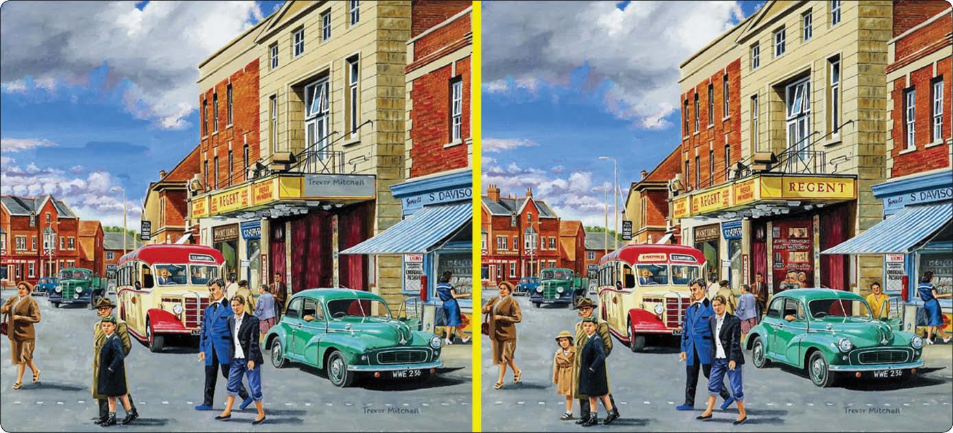 آیا میتوانید تعداد ۱۰ تفاوت را بین دو تصویر مشابه پیدا کنید؟
