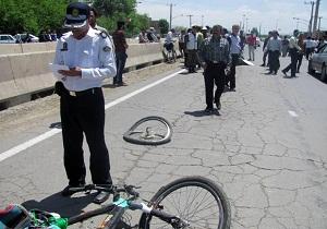 بی احتیاطی دوچرخه سوار را به کام مرگ کشاند