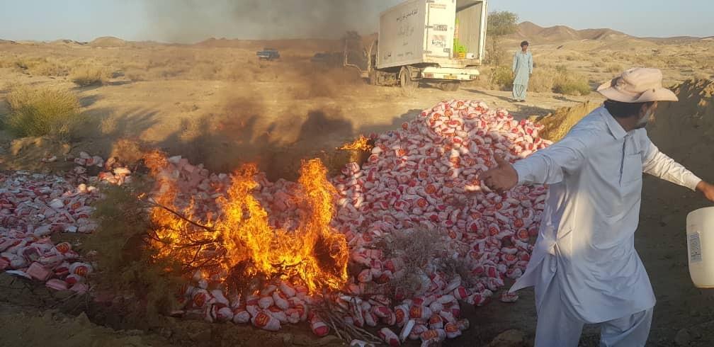 کشف بیش از ۷ تن مرغ فاسد در ایرانشهر