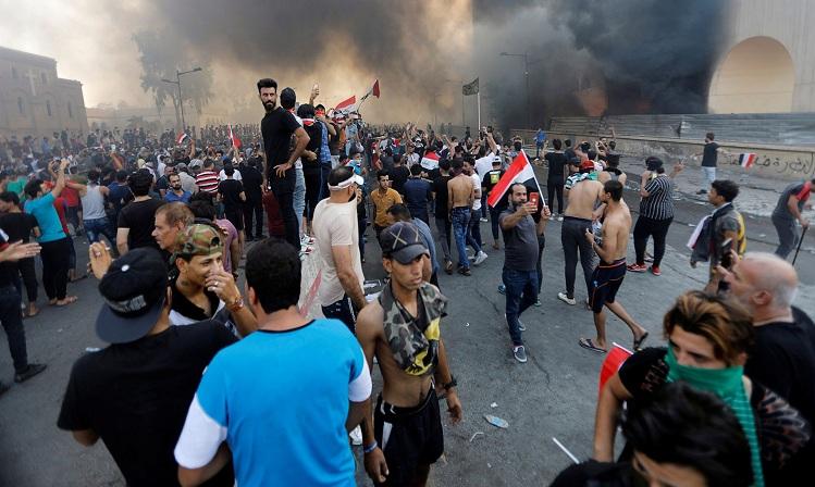 حوادث مشکوک در حاشیه اعتراضات عراق