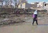 باشگاه خبرنگاران -دشواری تردد از خیابان گلآلود در شهرک فرهنگیان + فیلم