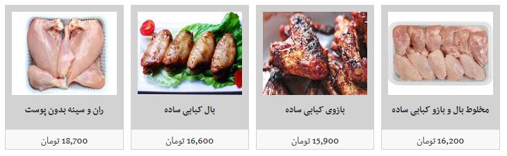 قیمت گوشت مرغ بسته بندی در غرفه های تره بار