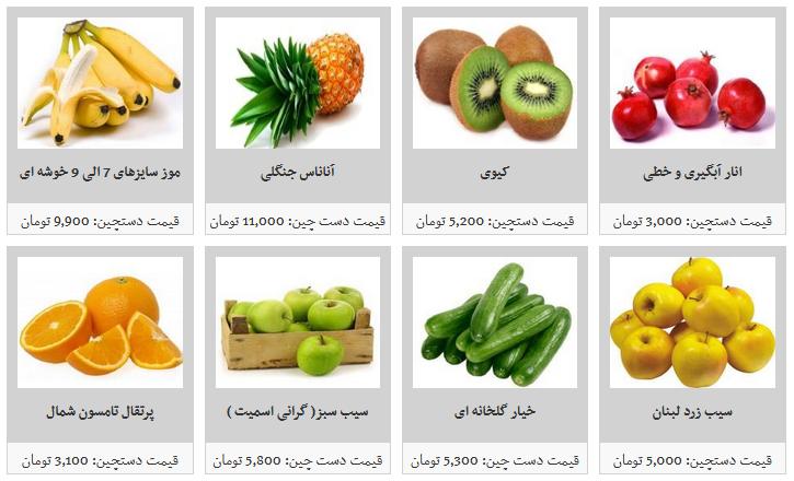 جدیدترین قیمت میوه های دستچین در میادین میوه و تره بار