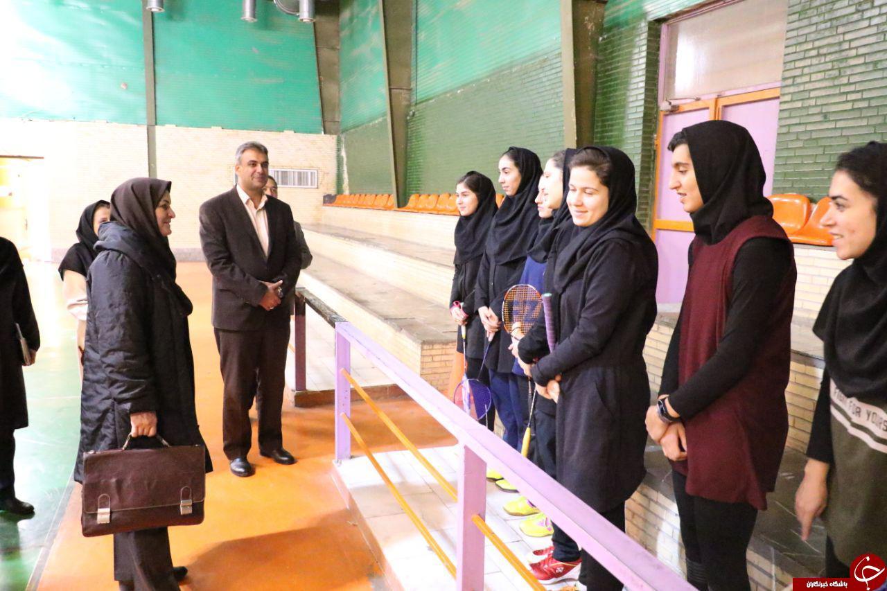 بازدید نایب رئیس فدراسیون بدمینتون از اردوی تیم ملی در کرمان + تصاویر